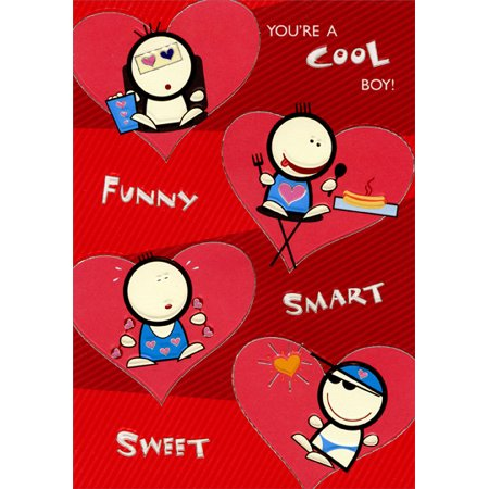 Designer Greetings Cool, Funny, Smart, Sweet: Young Boy Juvenile Valentine's Day Card (Fall Out Boy Valentine Cards)