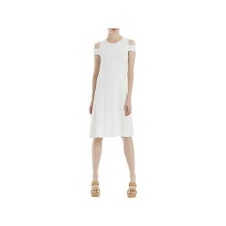 Eyelet Tube Dress - Max Studio London Womens Eyelet Shift Dress