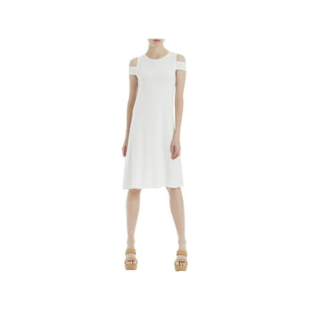 Max Studio London Womens Eyelet Shift Dress