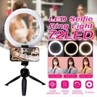"""8"""" LED Ring Light and Stand, 6500K Dimmable LED Ring Light, 10 Brightness Level, 3-Light Colors with tripod for Makeup, Camera Smart Phone ,YouTube,Self-Portrait Shooting"""