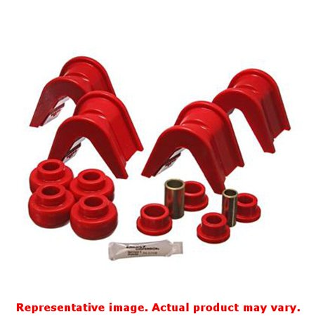 Energy Suspension Independent Rear Suspension Bushing Set 4 7105R Red Fits Ford