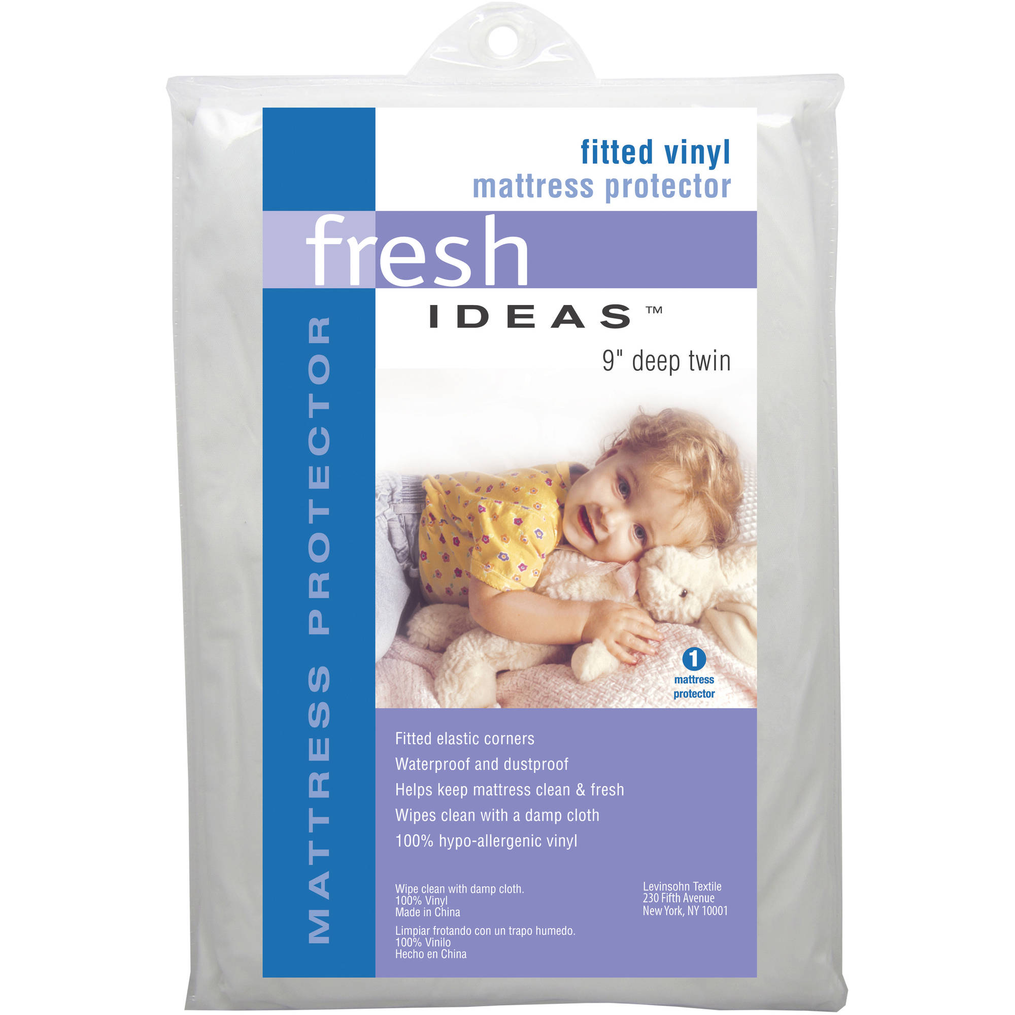 Click here to buy Fresh Ideas Fitted Vinyl Mattress Protector by Levinsohn Textile Company.