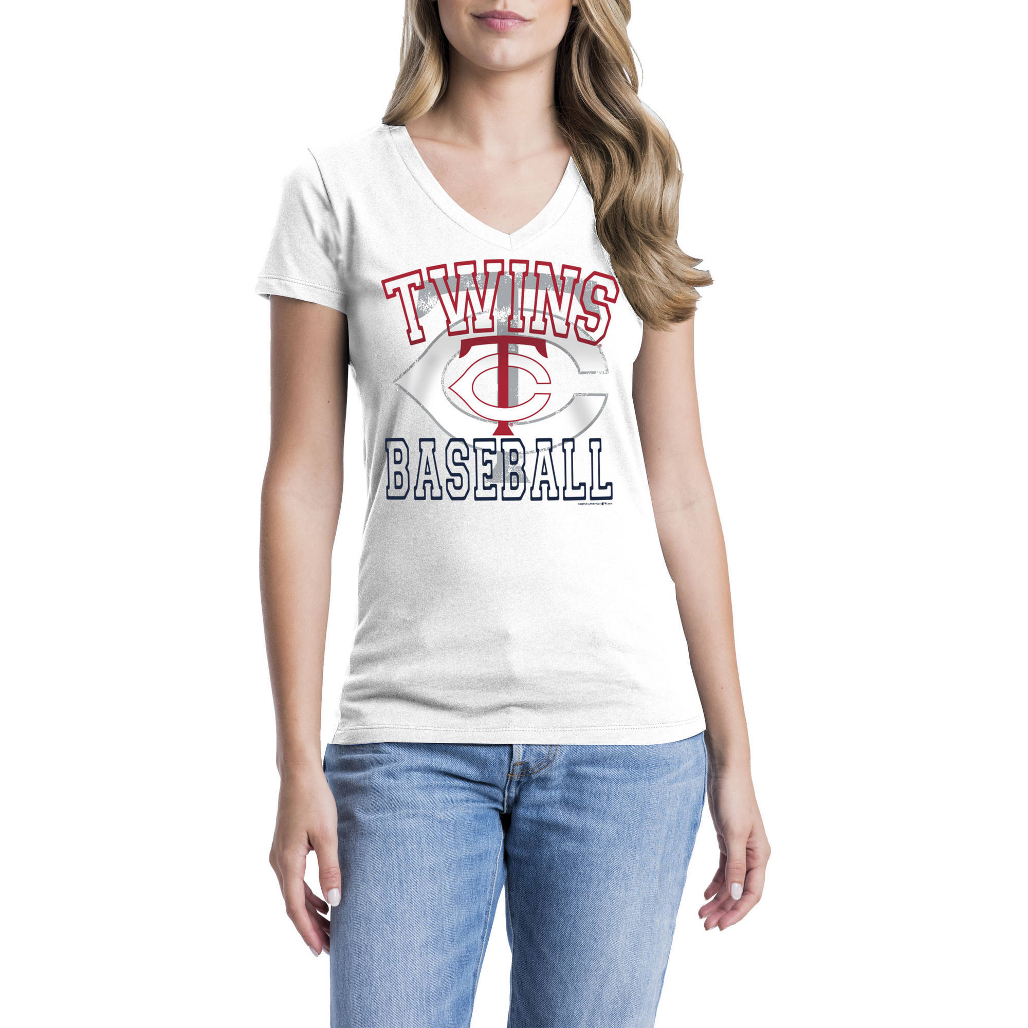 Minnesota Twins Womens Short Sleeve Graphic Tee