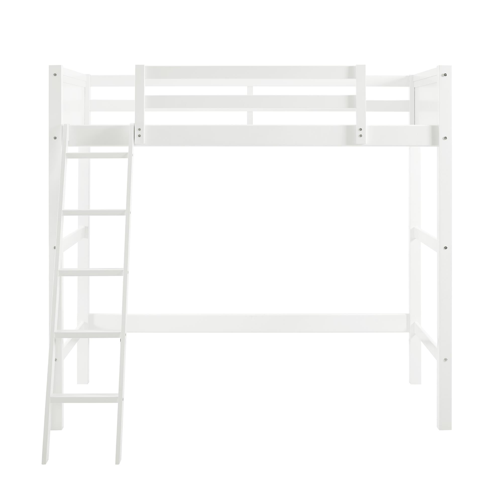 Wonderful Your Zone Twin Wood Loft Bed, Multiple Colors Image 7 Of 10
