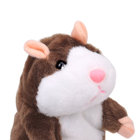- Adorable Gift Toy Talking Hamster Mouse Plush Doll for Kids - Repeats What You Say, Brown
