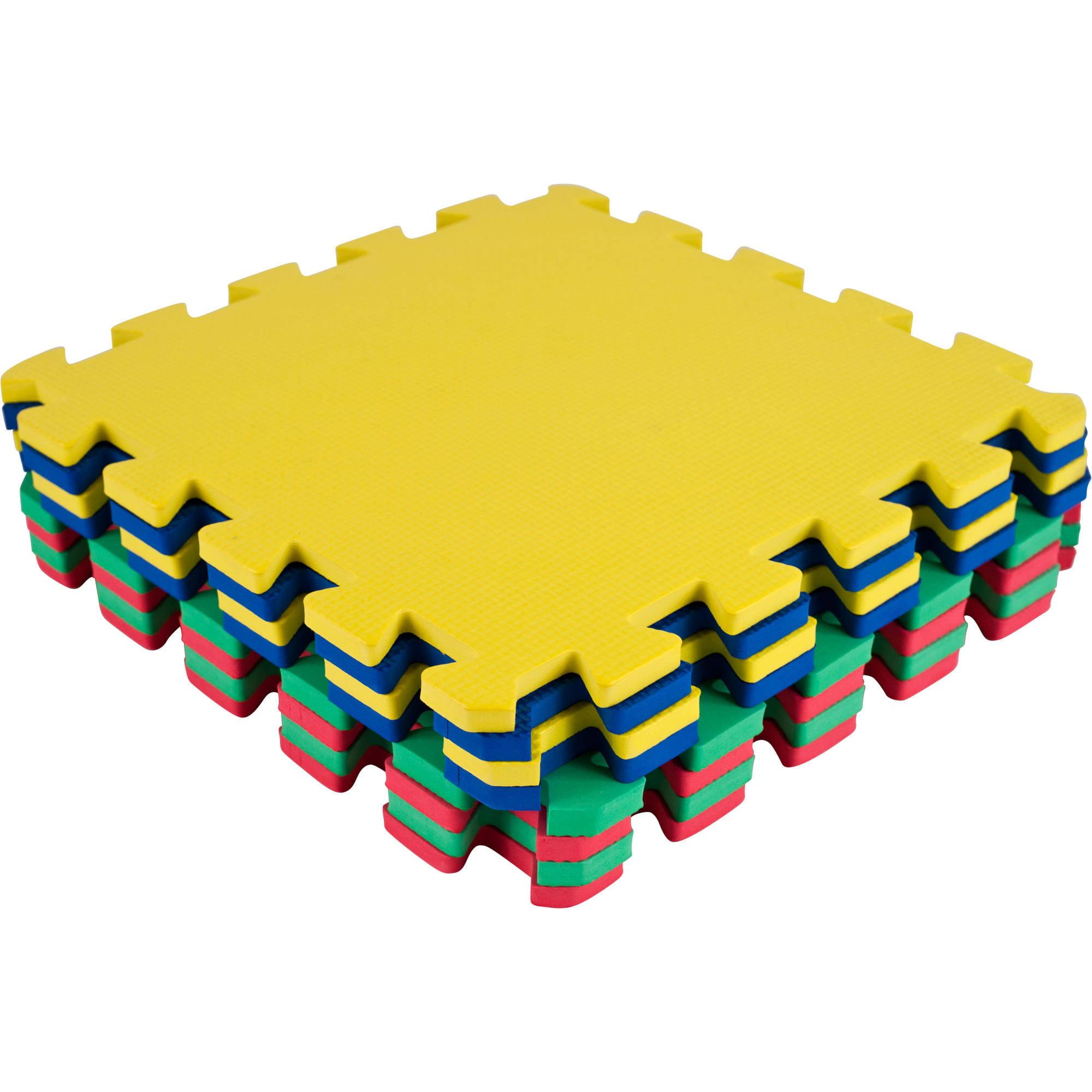tg multi color eva foam exercise mat 8 piece walmart