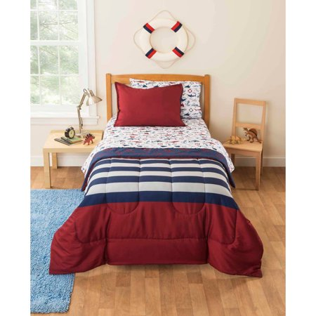 mainstays kids rugby pirate bedding bed in a bag. Black Bedroom Furniture Sets. Home Design Ideas