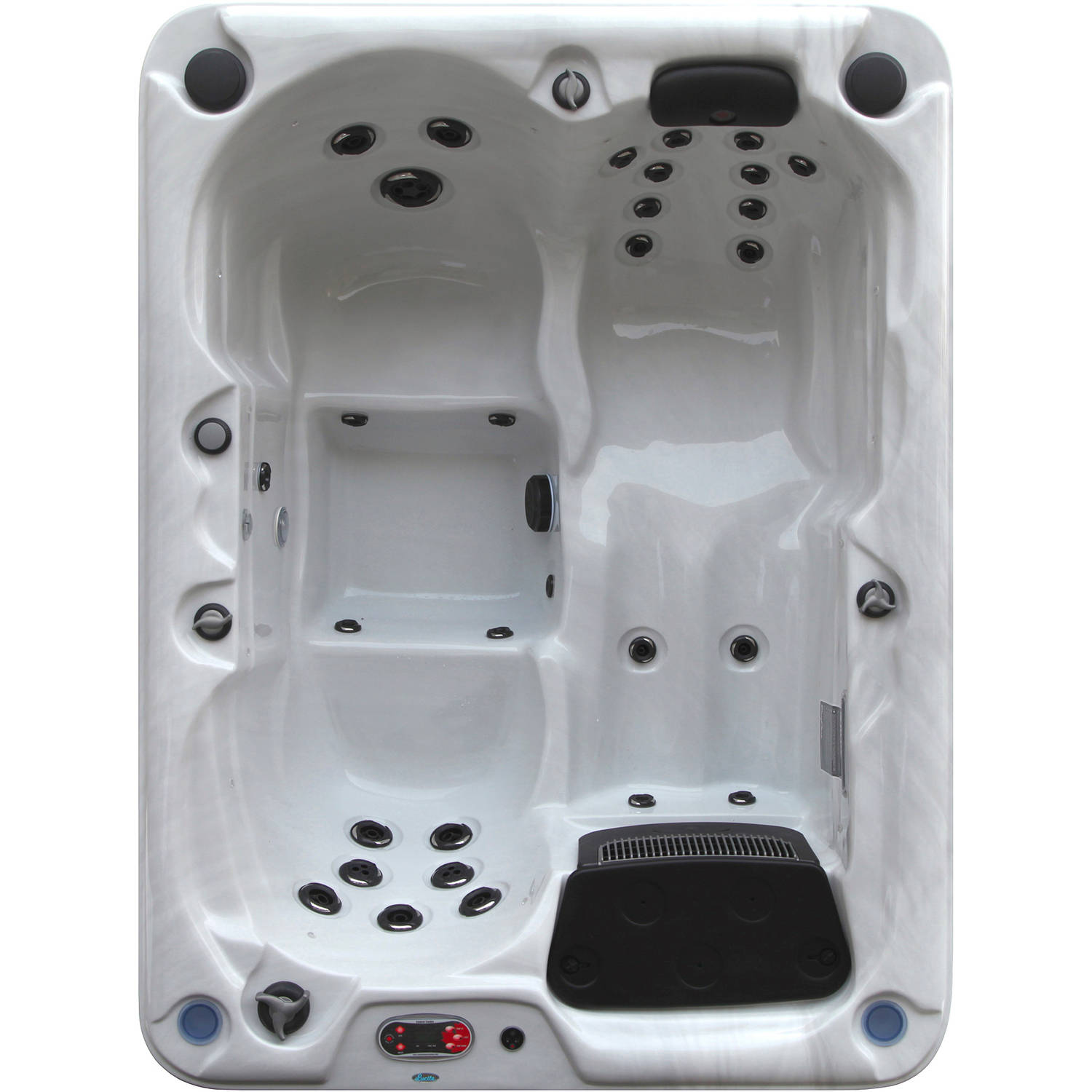 Canadian Spa Co. Quebec Plug & Play 29-Jet 3 Person Spa by Hot Tubs