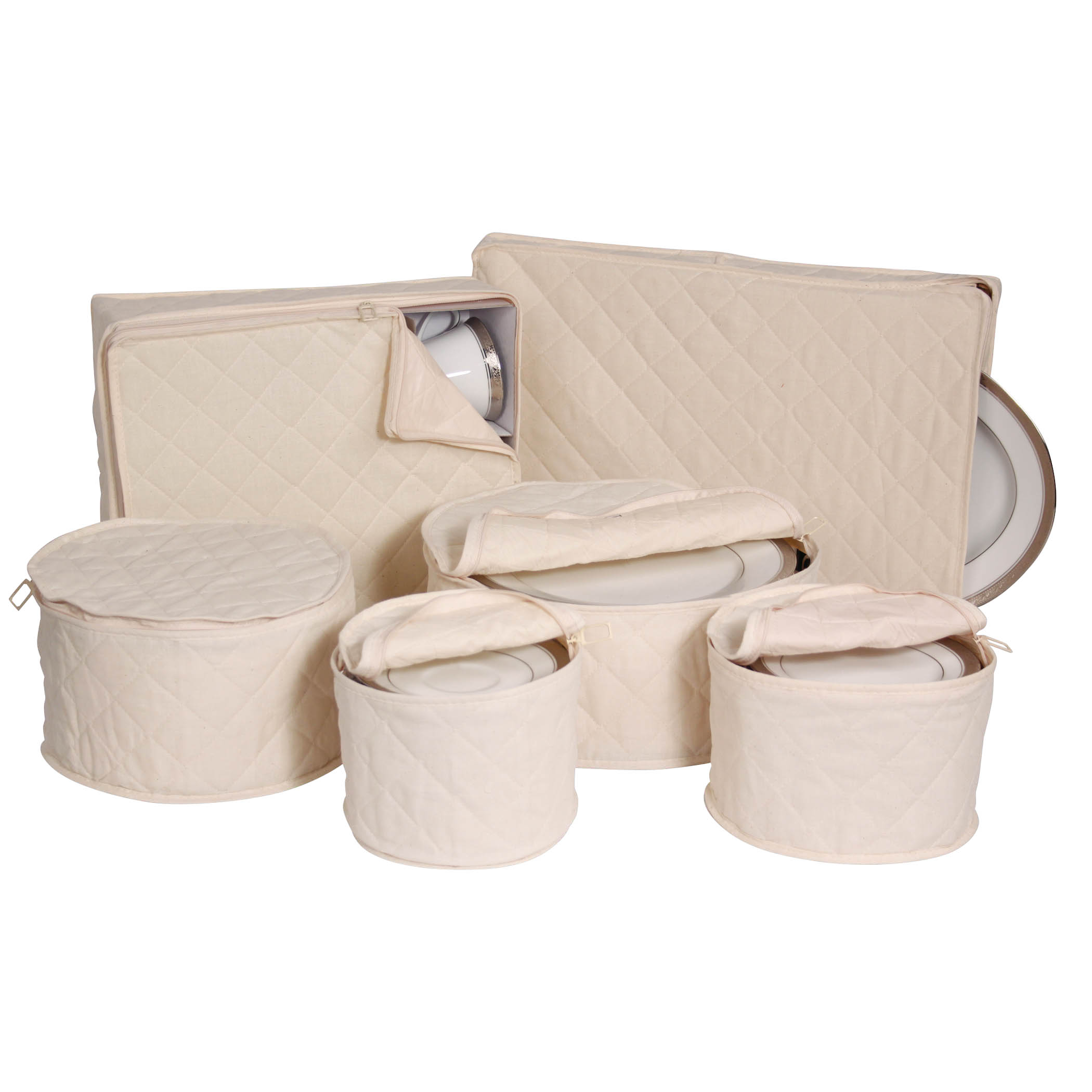 Quilted China Keepers 6pc. Starter Set -Crimson by Richards Homewares