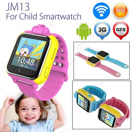 Pink Wifi 3G 2G Gps Children Kids Smart Watch Wrist Pedometer Tracker Camera Monitor Girl Watch