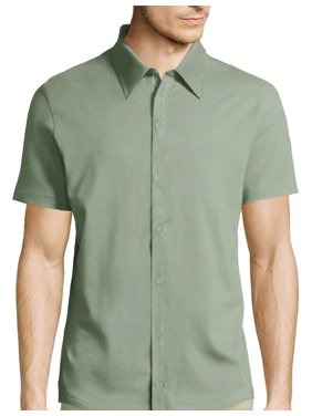 af6aed8ca342 Product Image Men's Short Sleeve Premium Slim Fit Solid Dress Shirts