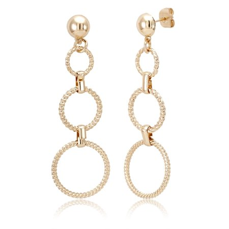 Comfort Fit 14k - Comfort fit 18kt Yellow Gold Drop Earrings