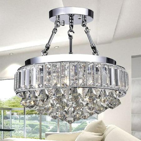 Hong Kong best New Zhu Yuan lighting Co. Apella 4-Light Semi-Flush Mount - Chrome