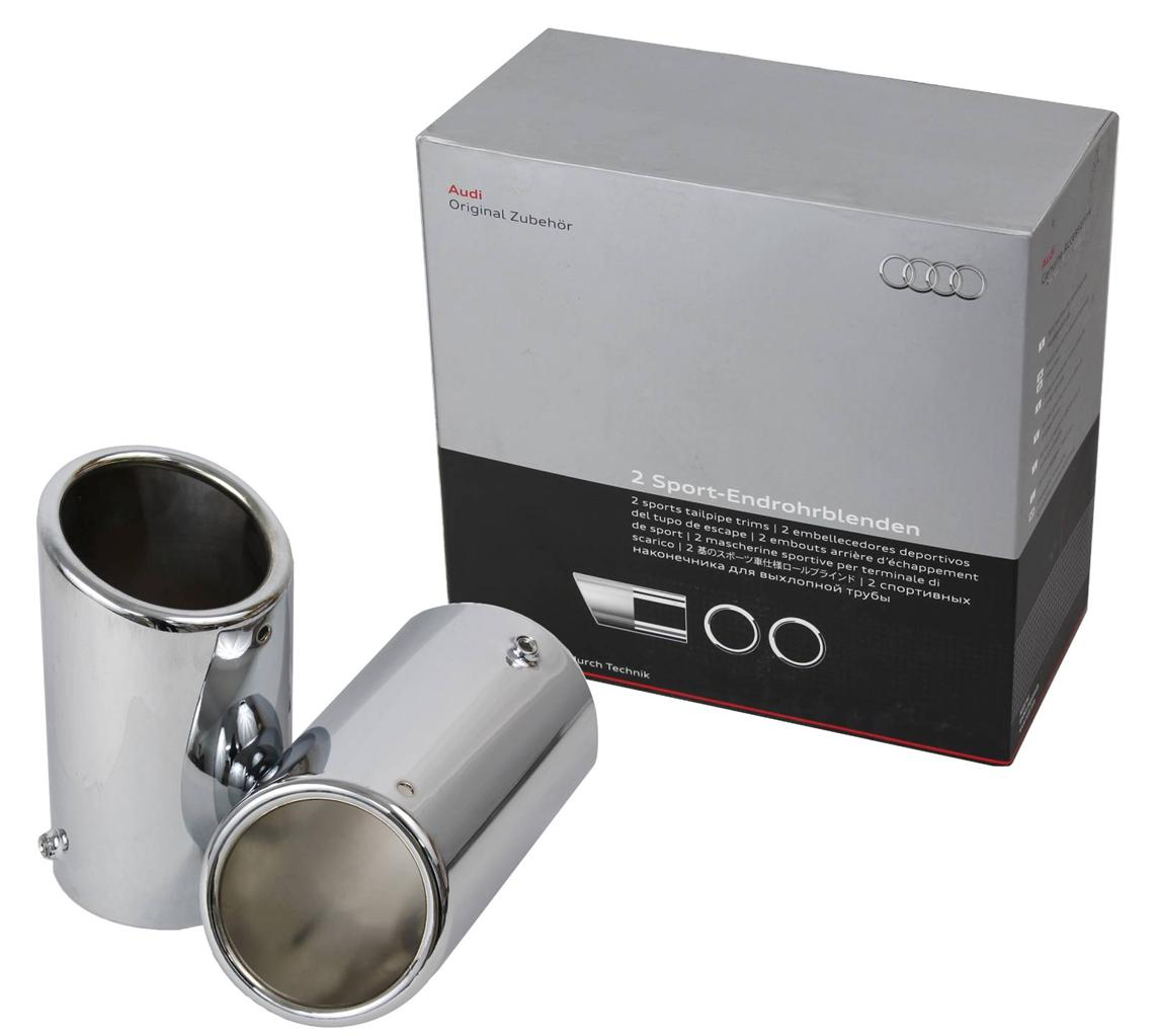 New Oem Chrome 65mm Exhaust Tips Fits 2009 2010 2011 2012 Audi A5 Coupe B8 8k0071761 8k0071761 Walmart Com Walmart Com