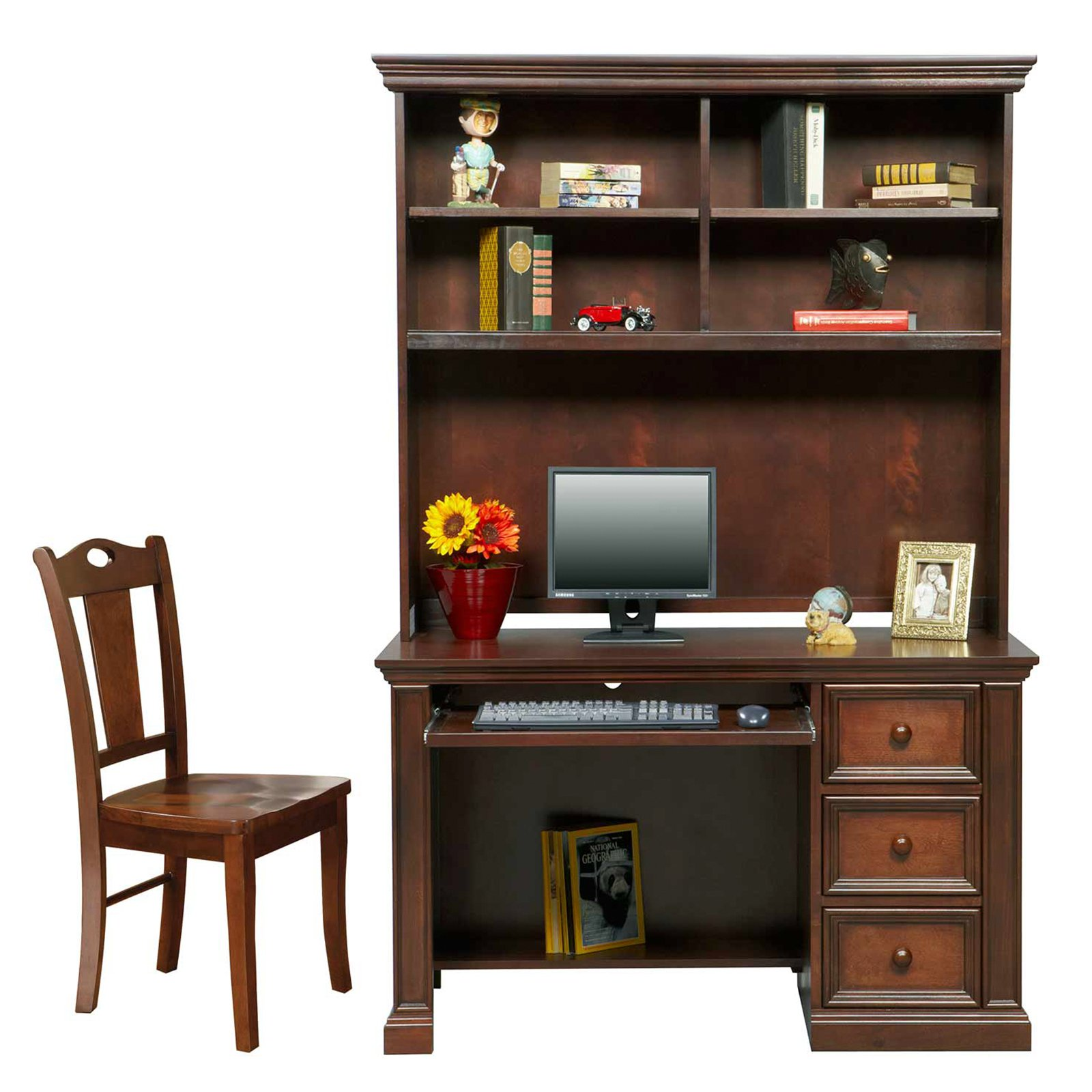Winners Only Cape Cod 50 in. Desk with Optional Hutch & Chair - Chocolate