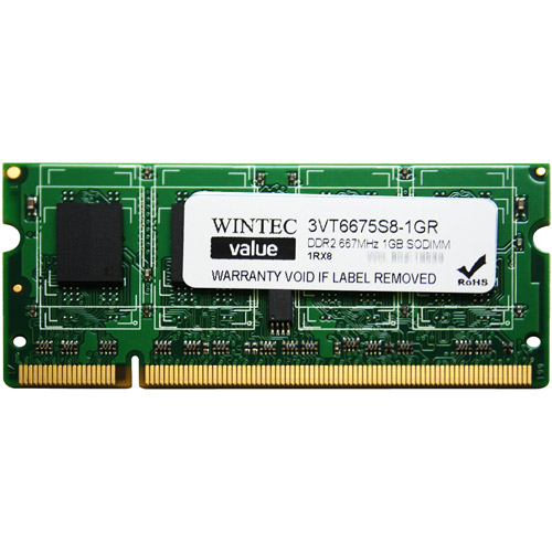 Wintec Value 1GB DDR2 PC5300 SO-DIMM Desktop Memory