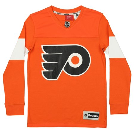 Reebok NHL Youth Philadelphia Flyers Face Off Long Sleeve Jersey Tee ... 036c48263