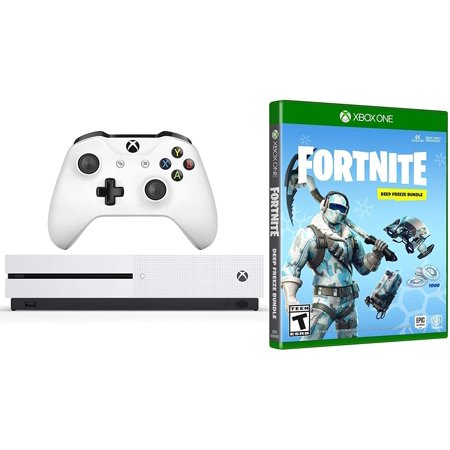 Xbox One Battle Royale Fortnite Deep Freeze Bundle 1000 V Bucks Frostbite Epic Cosmetic Sets Xbox One S 1tb Gaming Console With Wireless Controller
