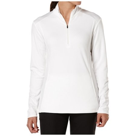 - Callaway Women's Waffle Fleece Quarter-Zip Golf Pullover (Bright White, XL)