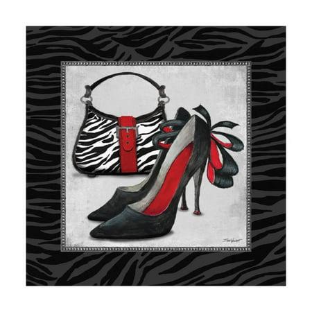 Zebra Fashion II Print Wall Art By Todd Williams