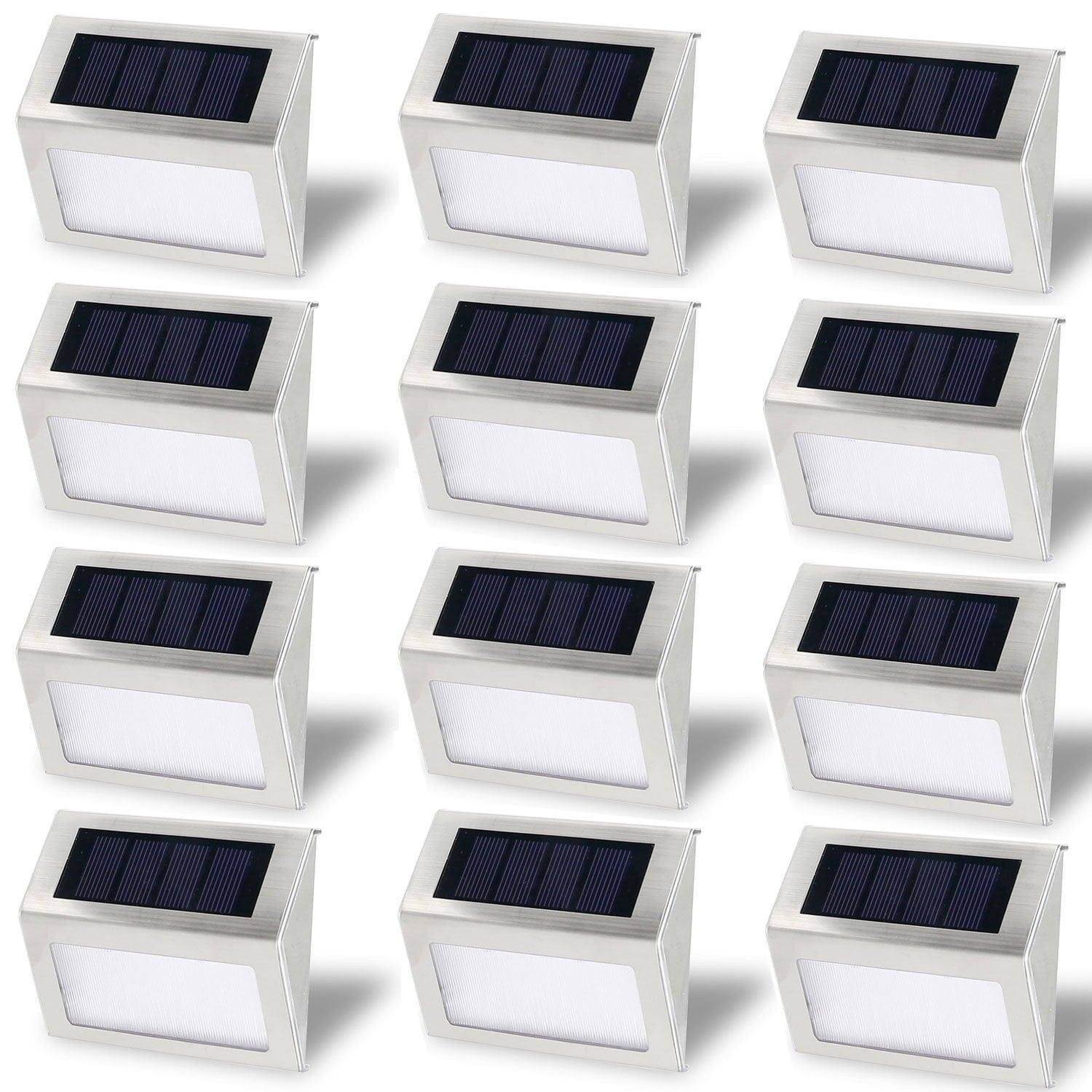 Solar Stair Light, EpicGadget Waterproof Outdoor LED Step Lighting 3 LED Solar Powered Step Lights Stainless... by