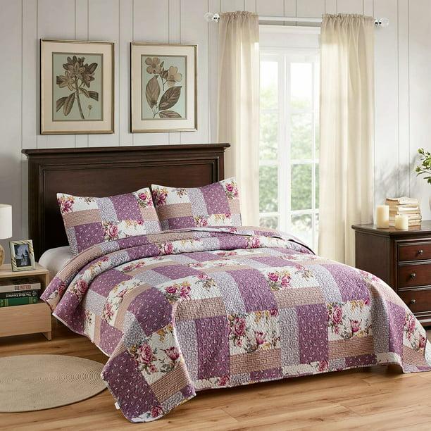 Piece Quilt Bedding Set, Light Purple Queen Bed Set