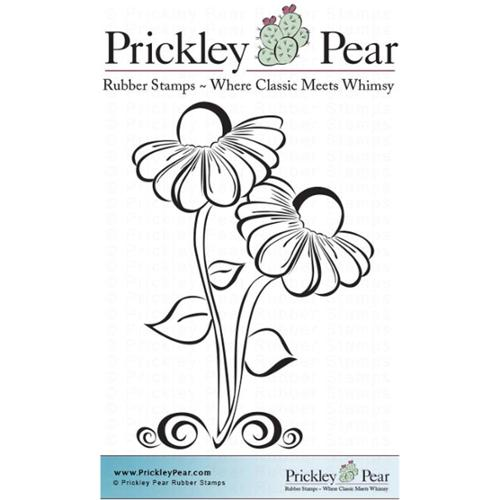 "Prickley Pear Cling Stamps 3""X2.25""-Black Eyed Susans"