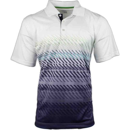 Page & Tuttle Mens Angled Stripe Gradient   Golf Casual  Polo -