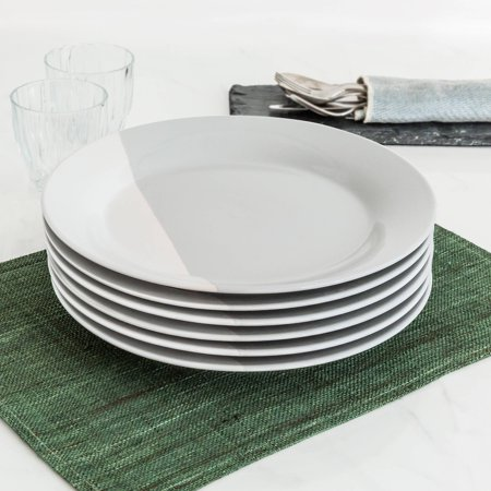 (Better Homes and Gardens Color Dipped Dinner Plates, Grey, Set of 6)
