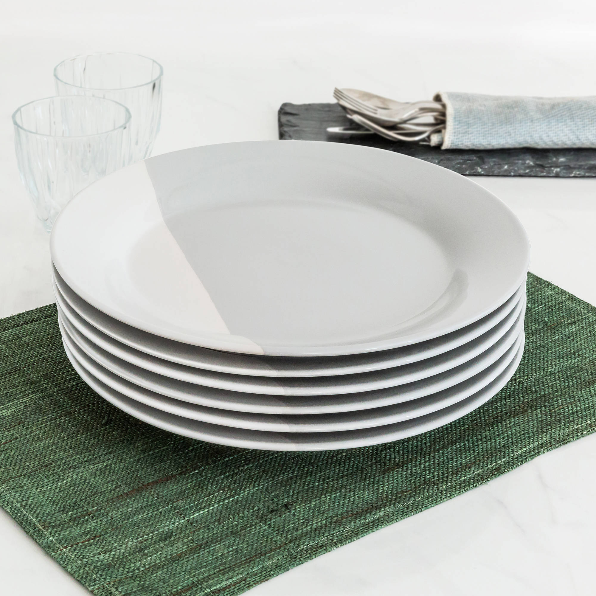 Better Homes and Gardens Color Dipped Dinner Plates Grey Set of 6 & Better Homes and Gardens Color Dipped Dinner Plates Grey Set of 6 ...