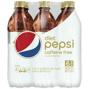 Diet Pepsi Caffeine-Free Soda, 16.9 Fl. Oz., 6 Count