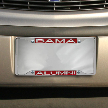Alabama Crimson Tide Alumni Laser Silver License Plate -