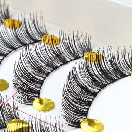 AGPtek NEW 10 Pairs Handmade Thick Black Fashion Long False Eyelashes