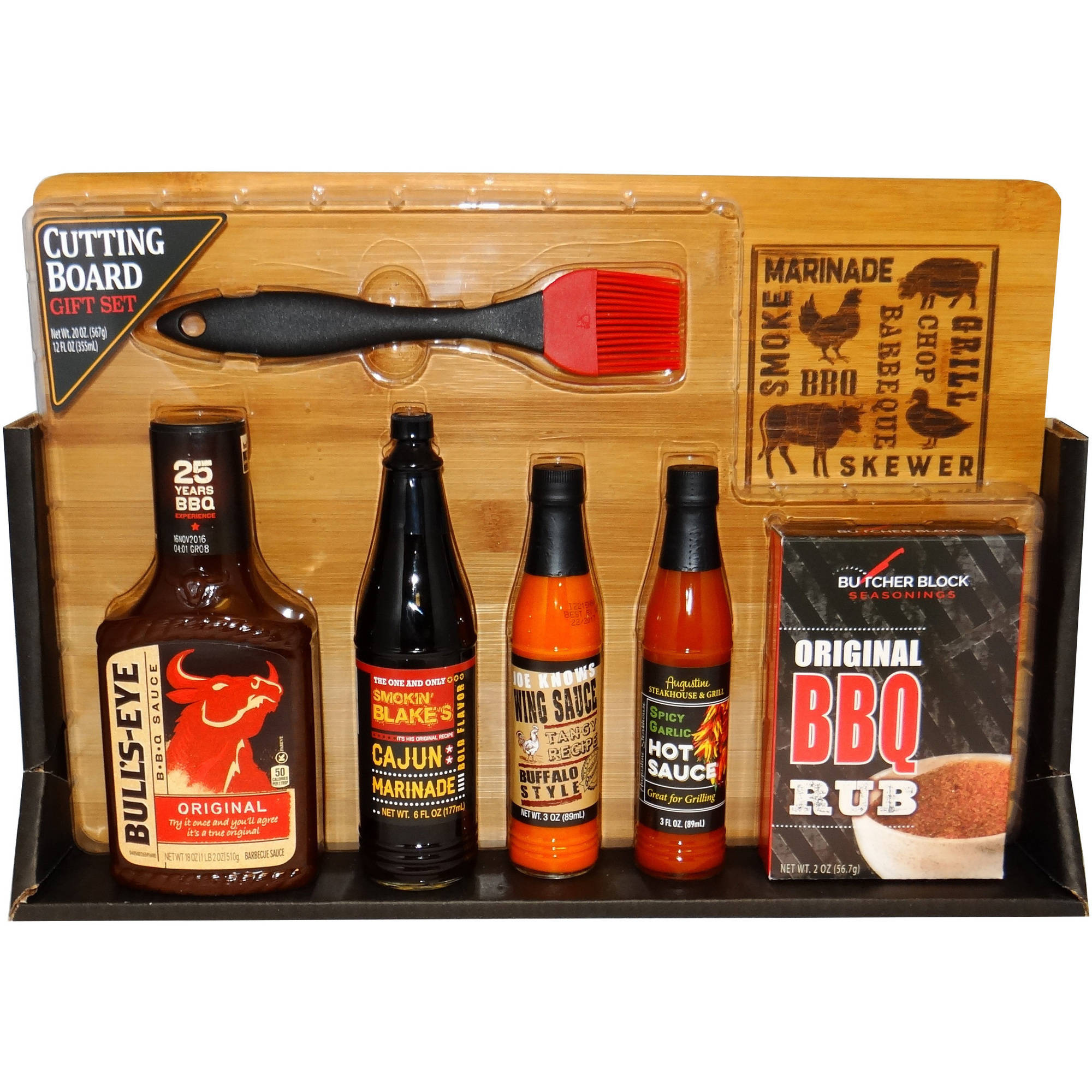 Cutting Board and Spices Holiday Gift Set, 7 pc
