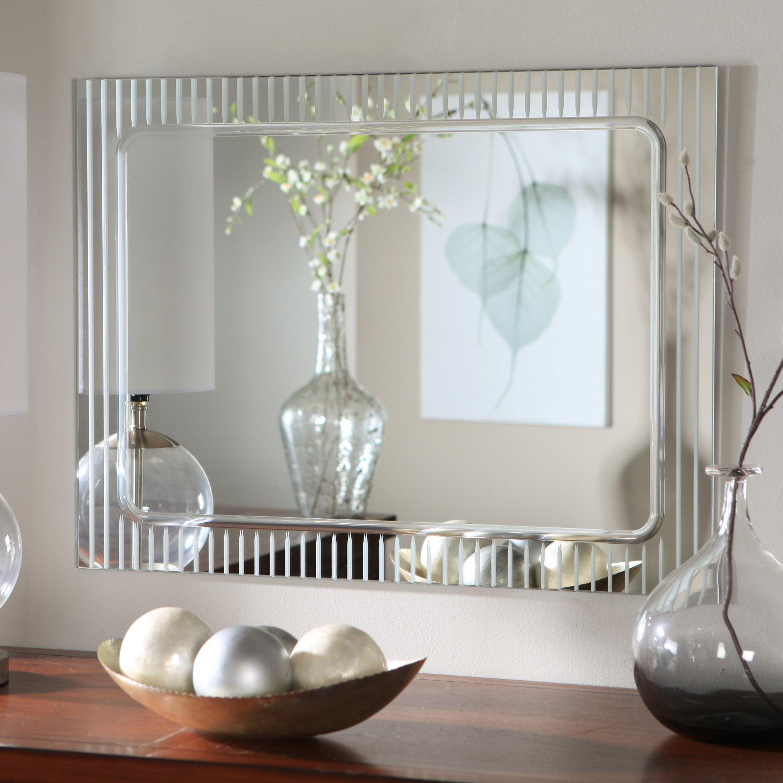 Décor Wonderland Frameless Deco Wall Mirror - 23.5W x 31.5H in.