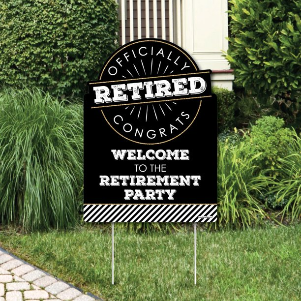 Happy Retirement Party Decorations Retirement Party Welcome Yard Sign Walmart Com Walmart Com