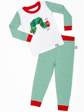 "Eric Carle Baby toddler boy or girl unisex ""very hungry caterpillar"" tight fit pajamas 2pc set"