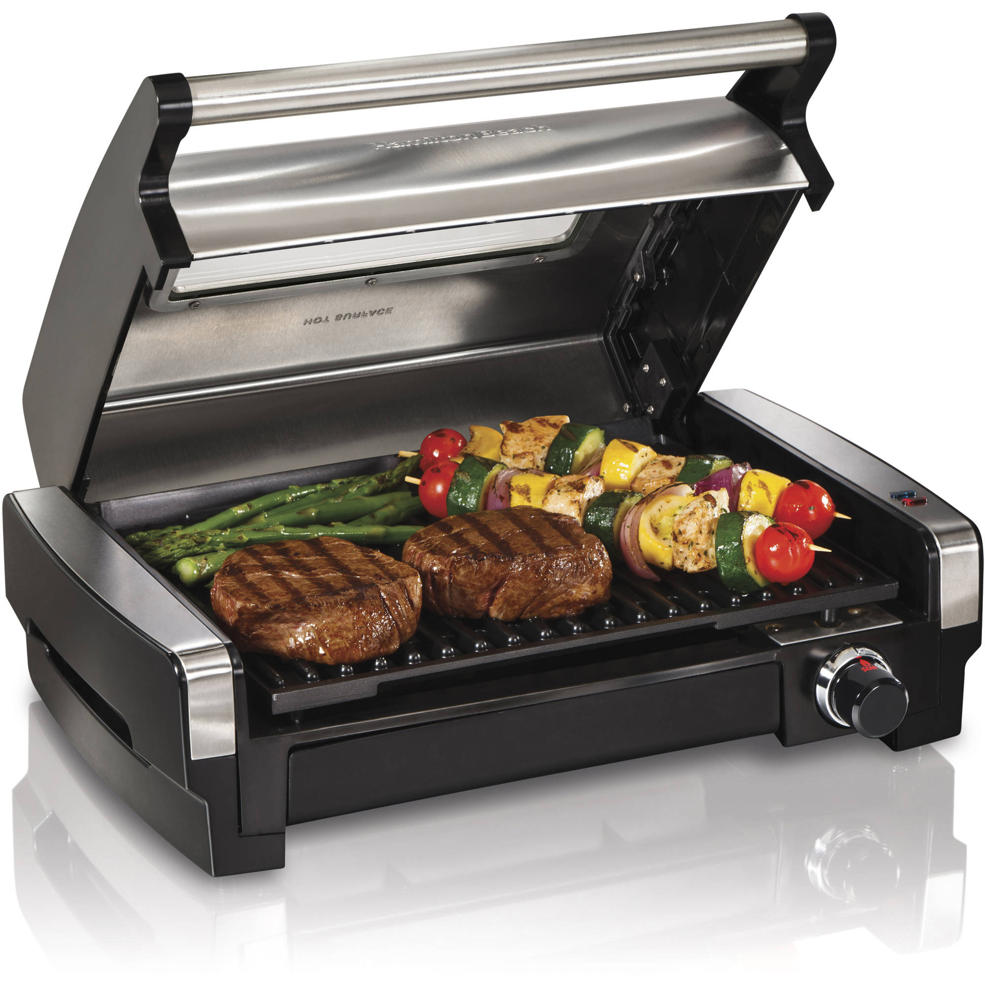 Hamilton Beach Searing Grill with Lid Viewing Window | Model ...