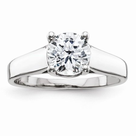 1.25 Ct Certified Diamond - Certified 1.25 Ct. Round Diamond Engagement Ring (H/SI1) in 14k White Gold