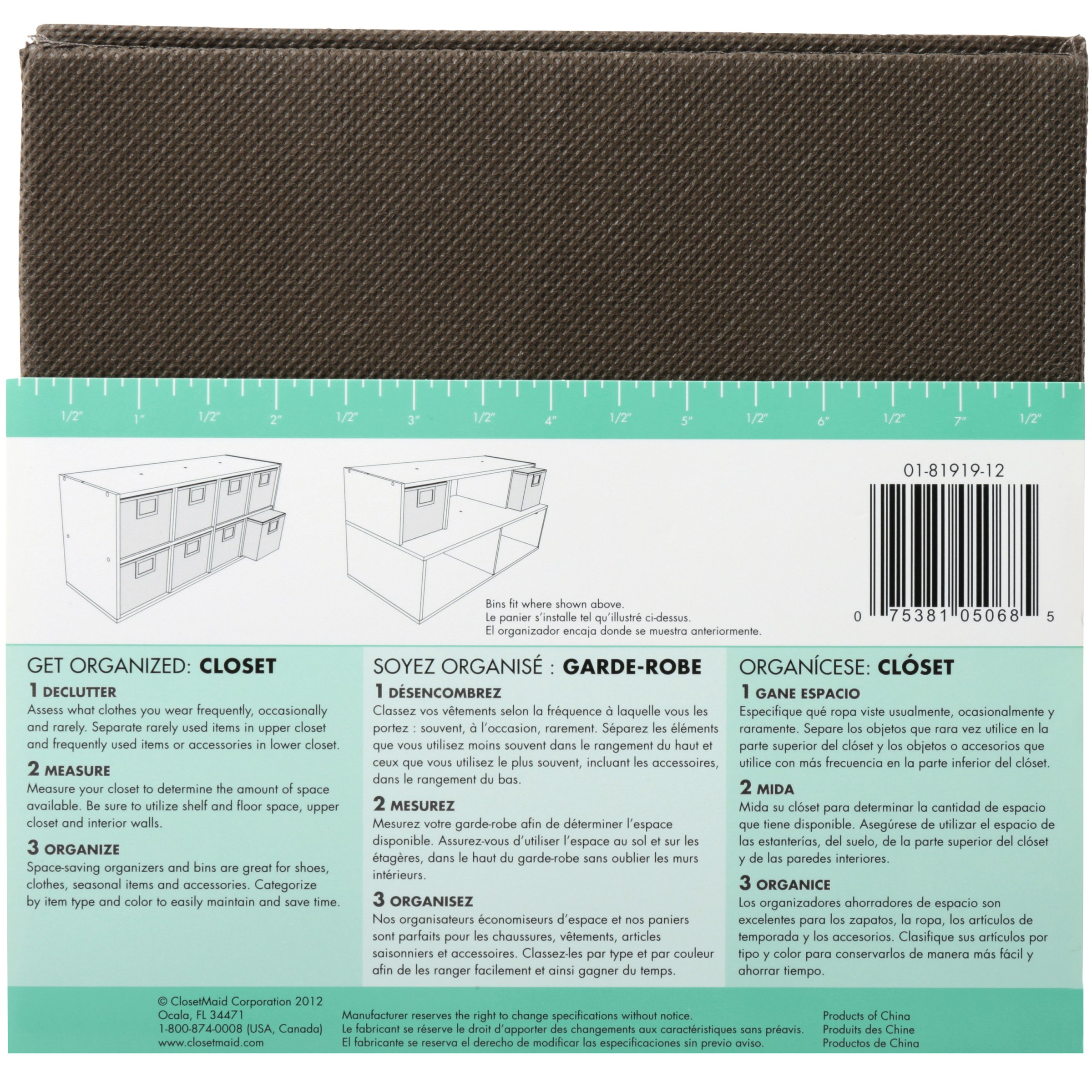 Closetmaid Fabric Bin With Window Walmart Com