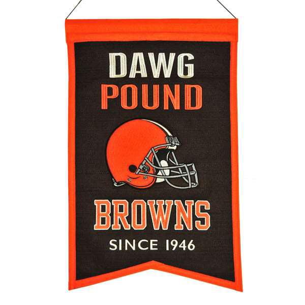 Cleveland Browns Wool Franchise Banner