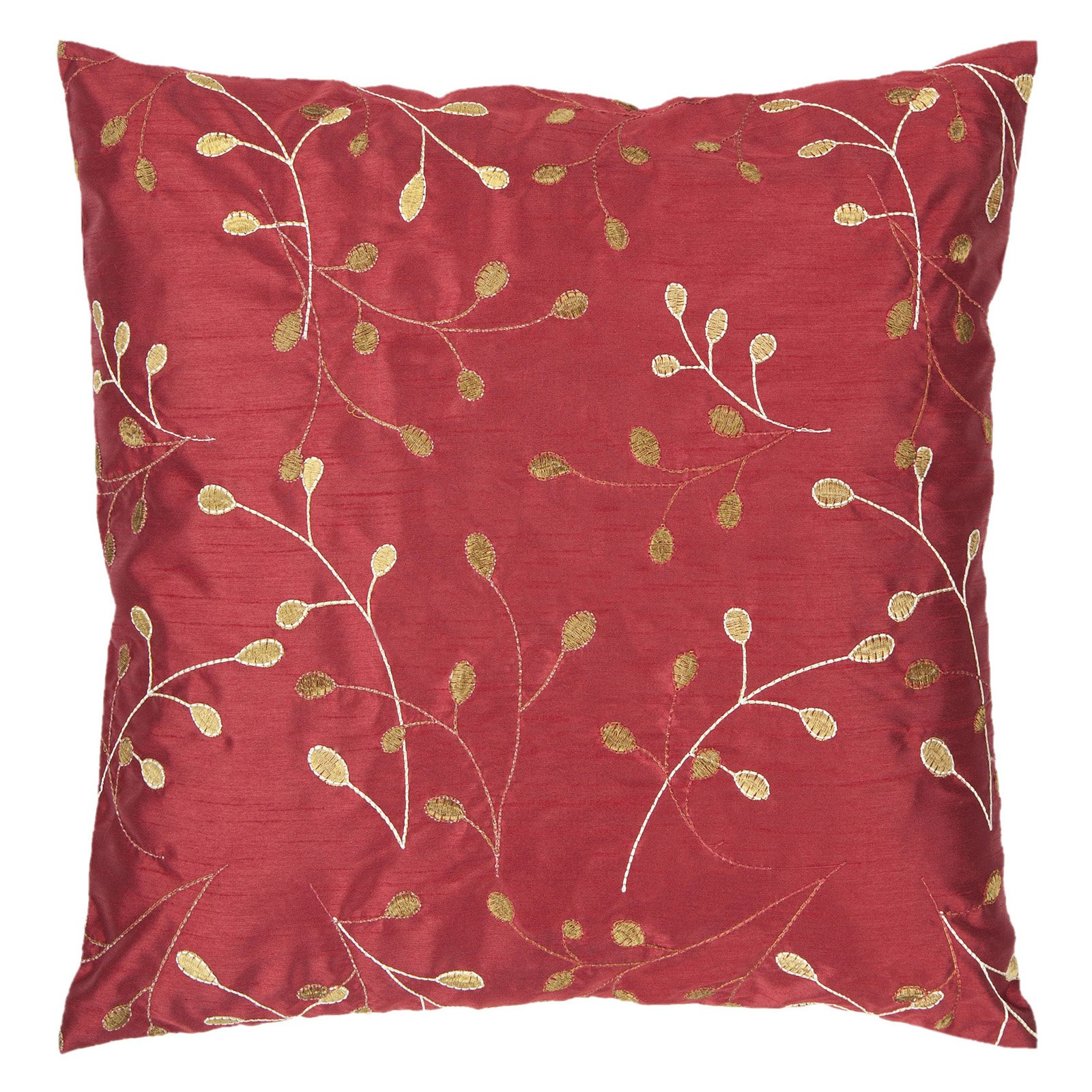 Surya China Vine Decorative Pillow - Venetian Red