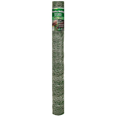 YARDGARD 5 Foot X 150 foot 2 Inch Mesh Poultry Netting - Galvanized Steel Fencing