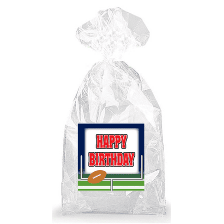 Football and Field Goal Happy Birthday  Party Favor Bags with Ties - 12pack](Football Birthday)