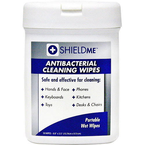 SHIELDME 6050 Antibacterial Cleaning Wipes (50 ct)