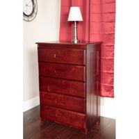 American Furniture Classics 5-Drawer Chest, Merlot Finish