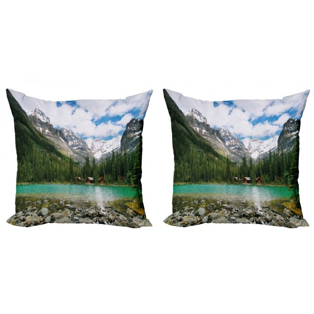 Landscape Throw Pillow Cushion Cover Pack Of 2 Canada Ohara Lake Yoho National Park With Mountains Nature Scenery Art Photo Zippered Double Side Digital Print 4 Sizes Multicolor By Ambesonne Walmart Com