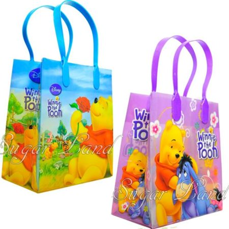 12 Winnie the Pooh Party Favor Bags Birthday Candy Treat Favors Gifts Plastic Bolsas De Recuerdo - Winnie The Pooh Party