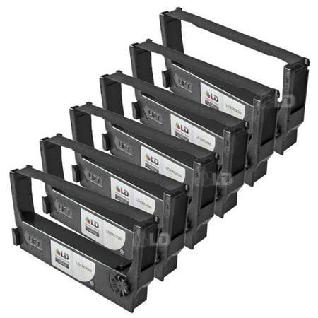 Black Pos Printer Ribbons (LD Epson Compatible Replacement 6 Pack Black POS Ribbon Cartridges - ERC-23B )