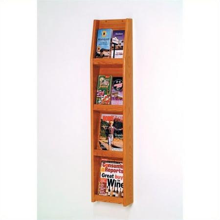Wooden Mallet Literature Display in 8 Pocket in Medium Oak - image 1 de 1